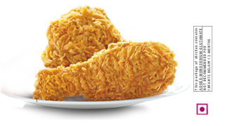 Hot n crispy chicken in KFC