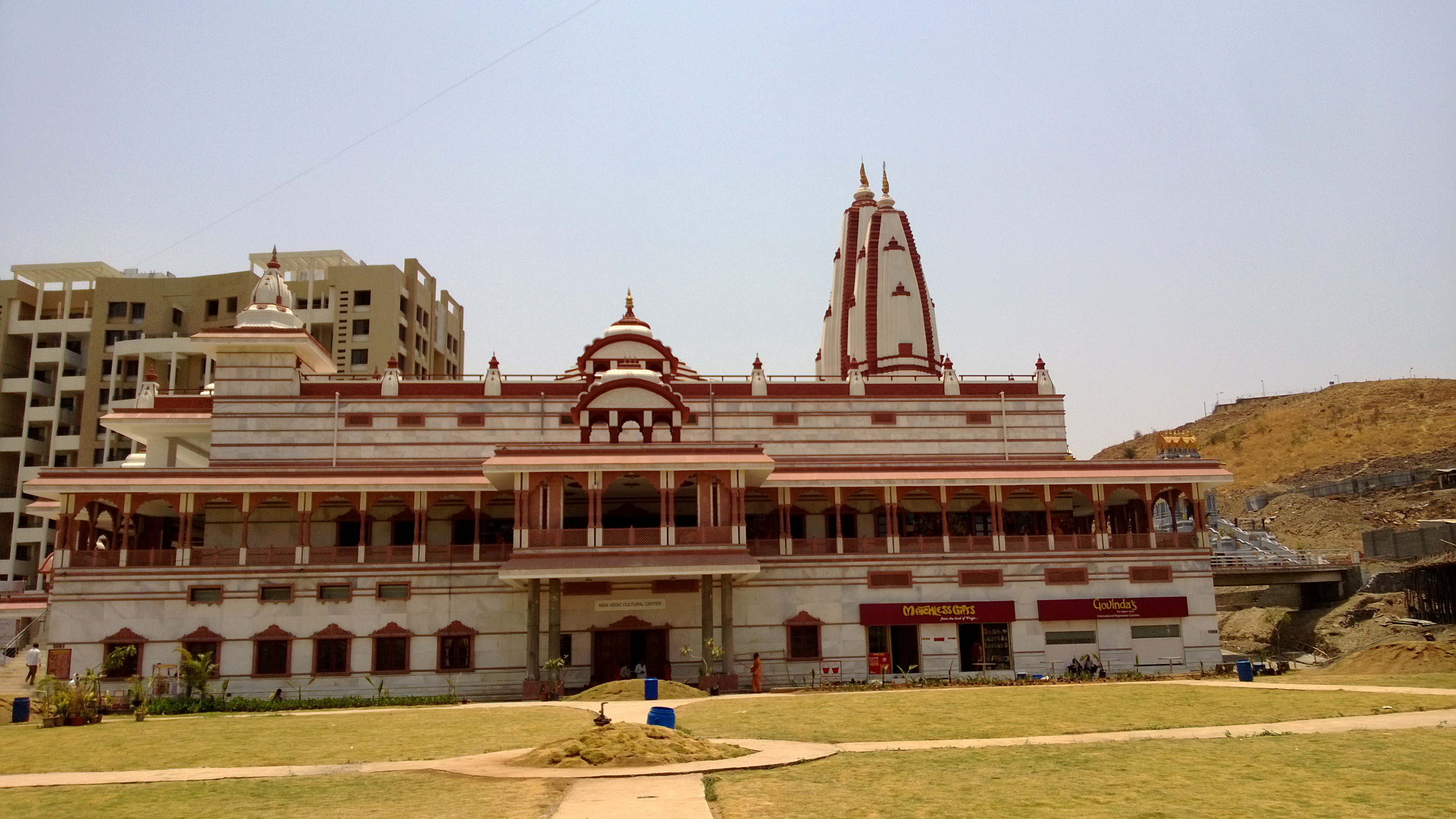 ISKCON temple at Pune - Exterior view