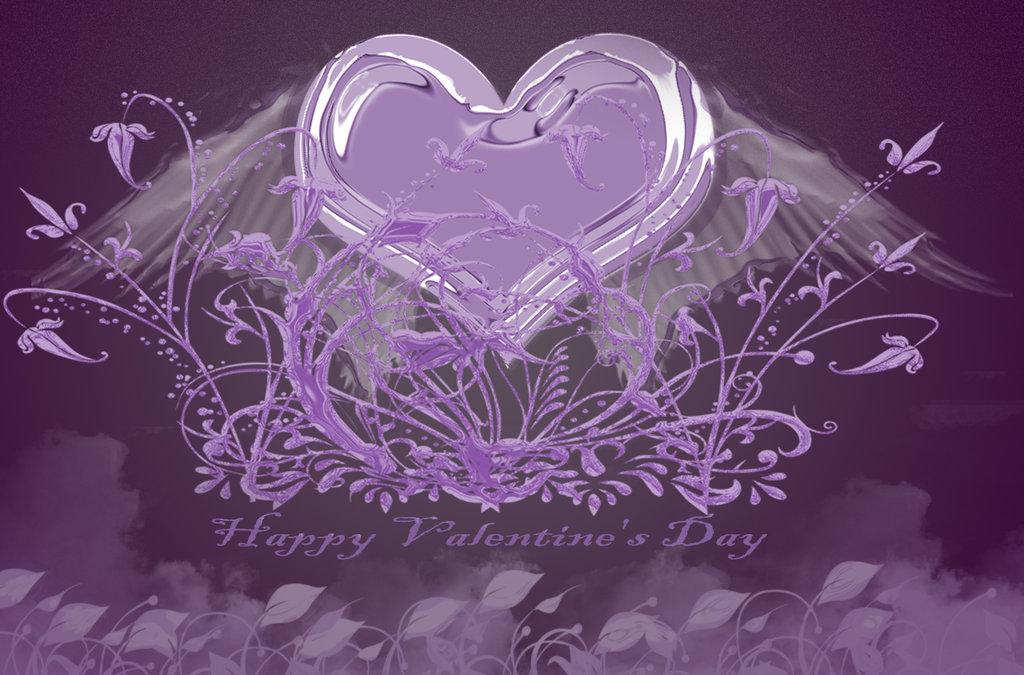 purple love valentine day - photo #24