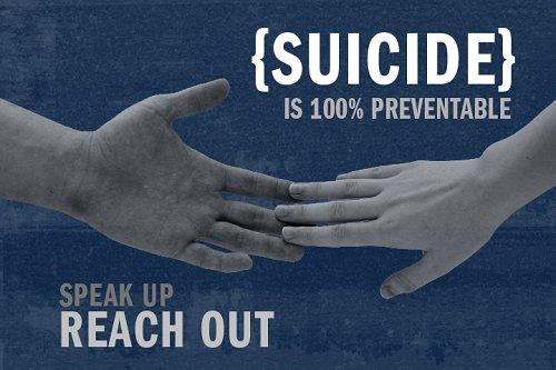 Suicide is 100% preventable